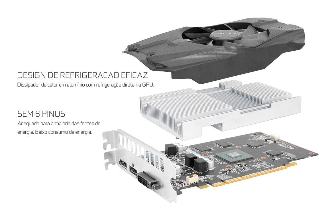 Placa de Video NVIDIA GTX 1050 TI 4GB GDDR5 128 Bits GALAX